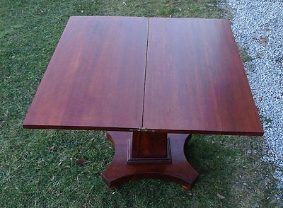 Antique American Empire Mahogany Card Table Folding Top