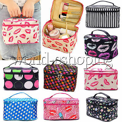 Womens Travel Cosmetic Bag Toiletry Makeup Beauty Organizer Storage Pouch Case