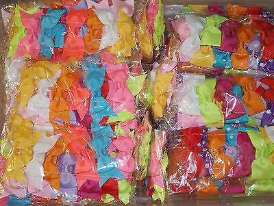 57 Pcs Mix lot Baby Toddler Girls elastic headband headwear Hair Bow 5 Styles..