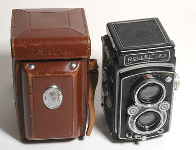 Vintage Rolleiflex Automat Model 2 Xenar f3.5/75mm Lens TLR Camera Case/Works