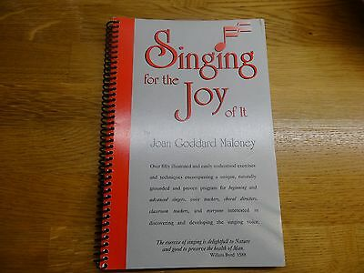 Singing for the joy of it - 1/2 Price - New - Words & Exercises Joan Moloney