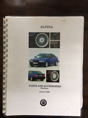 BMW Alpina Catalog ~ B9 V8 C1 E21 M3 Wheels Vintage