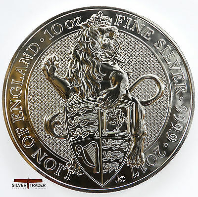 The 2017 Lion of England Queens Beasts 10 ounce bullion coin