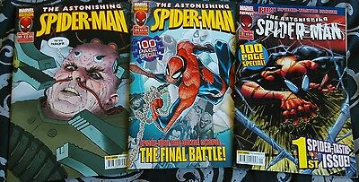 3 x Astonishing Spider-Man 99, 100 and Relaunch #1. Marvel comics.