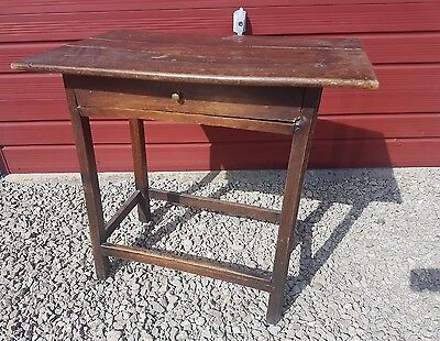 Antique side table with draw