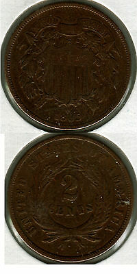 1865 2 Cent Coin
