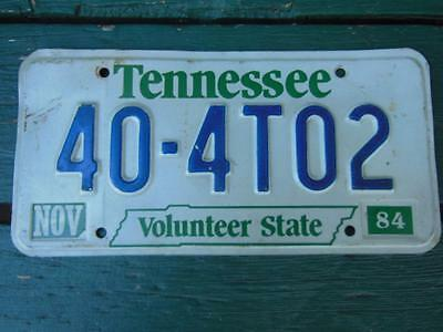 Tennessee 40-4T02 Volunteer State License Plate Barn Man-Cave Bar Car Garage