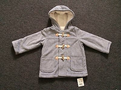 Boys Grey Duffle Coat 12-18 Months Brand New From George