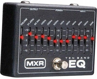 MXR 10 Band Graphic EQ w/ 18V Power Supply Tone Control Guitar Bass Pedal Effect