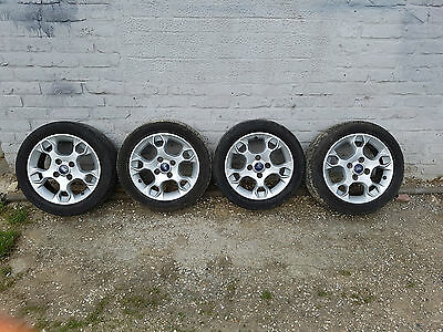 "ford fiesta alloy wheels with tyres 195/50/15"" 4 stud"