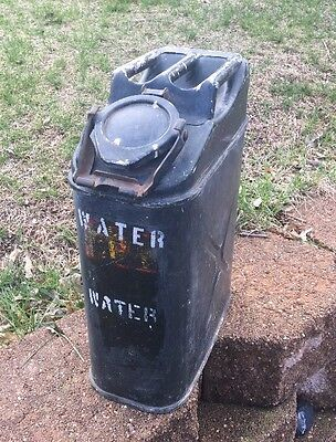 USMC jerry can  Water Can Steel Conco Fully Marked Unknown Era Lighter Weight
