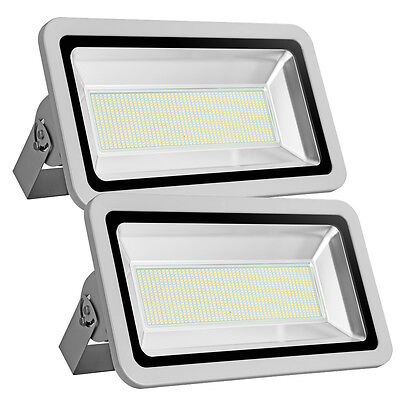 2x 500w smd led fluter flutlicht kaltwei aussen garten. Black Bedroom Furniture Sets. Home Design Ideas