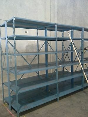 "(10 sections) 48"" x 18"" x 7' tall with 5 shelves"