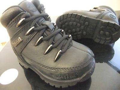 Toddler Boys Timberland Euro Sprint Black Leather Boots Uk Size 5 - 8 ( 53888 )