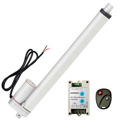 """18"""" inch 450mm 12V DC Linear Actuator & Remote Controller 1500N Max Lifting Auto"""