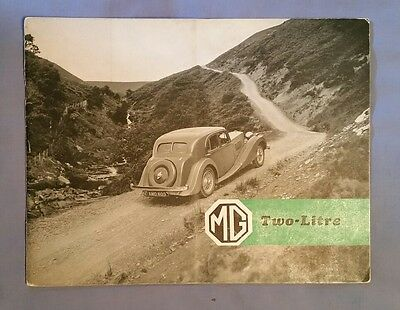 Rare Vintage 1938 MG Two Litre Foursome Tourer Brochure Folder England Britain