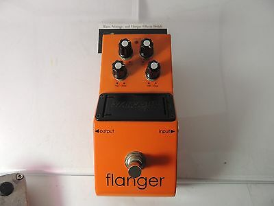 Fender Starcaster Flanger Effects Pedal Free Usa Shipping
