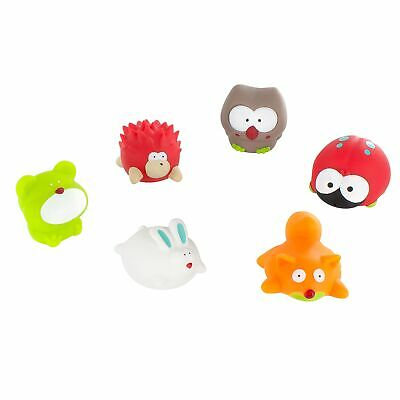 Badabulle Baby Bath Tub Play Water Squirter Toys - Set of 10 Forest Animals