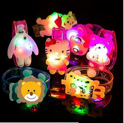 Children Luminous Wrist Band Different Cartoon Characters Hand Ring Bracelet GYI