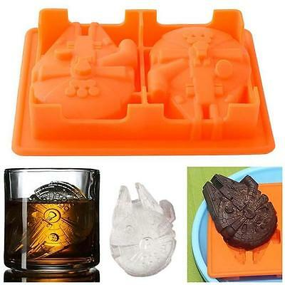 New Silicone Ice Cube Tray Star Wars Chocolate Jelly Candy Soap Cake Mold Tool J