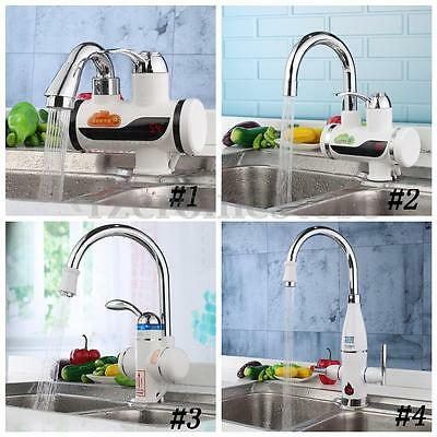 Multi Style 220V Instant Tankless Electric Water Heater Faucet LED Digital Tap