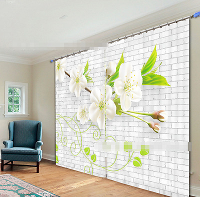 3D Spring View Blockout Photo Curtain Printing Curtains Drapes Fabric Window CA
