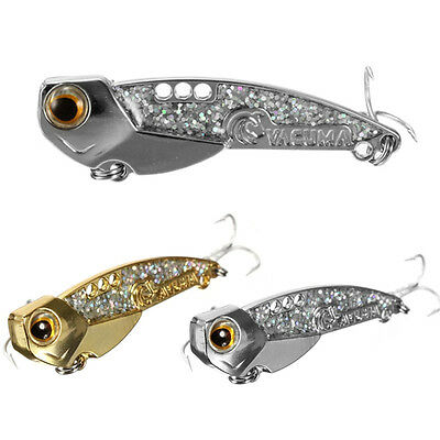 Mustad White Nickle Treble Hooks Metal Lures Bass Bait Blade Fishing Silver Gold