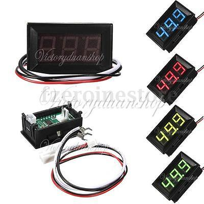 "New 0.56"" DC 0-1A/10A/50A/100A Ammeter LED Panel Amp Meter Digital Gauge Display"