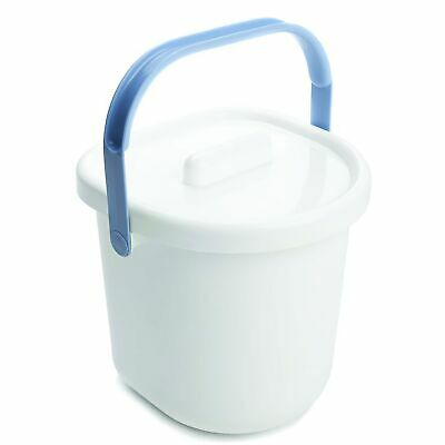 The Neat Nursery Co. Baby Child Nappy Diaper Waste Disposal Pail - White / Blue