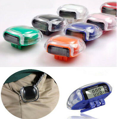 Mini LCD Digital Multi Pedometer Walking Step Distance Calorie Clip-on Counter