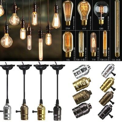 E27 ES 40W Vintage Antique Industrial Edison Filament Light Bulb Lamp Holder