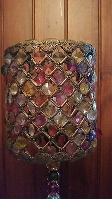 Ishka: Beautiful lamp with coloured glass crystals. RRP $349.00