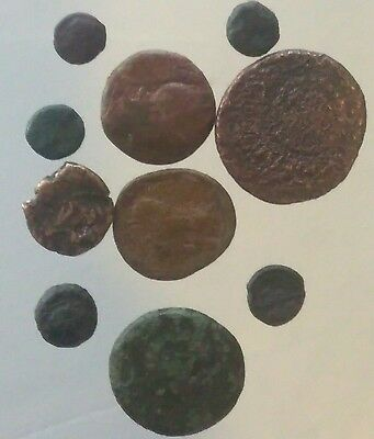 Ancient Greek or Roman coins lot of 10 over 1oz 30.2 grams L1