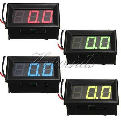 "0.56"" 3 Wire DC 0-10/30/200V LED Voltmeter Car Digital Display Panel Volt Meter"