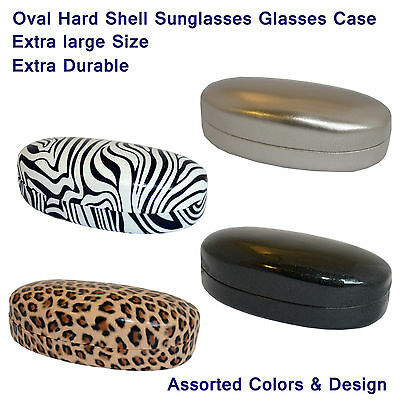 Glasses Case, Sunglasses Case, Large Oval Hard Shell Case, Metal Case Soft In