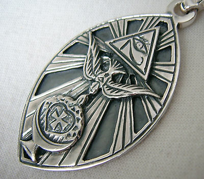 .   Pendant occultist Aleister Crowley   silver  925