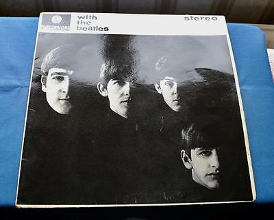 WITH THE BEATLES - ORIGINAL 1st PRESSING  STEREO from 1963   - UK LP Y/B EX /EX