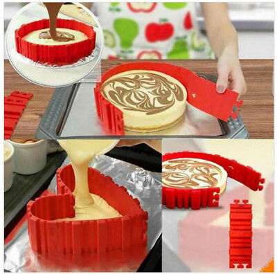 Nonstick 4Pcs Silicone Cake Mold Magic Bake Snake DIY Cake Mould Baking Tools