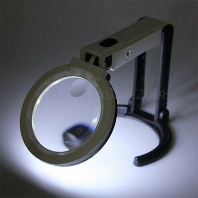 Loupe 12 LED Lampe Magnifier Support Table Pr Soudage Electronique Réparation