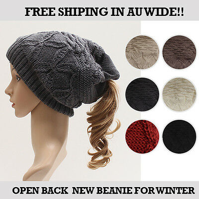 Open Style Winter Beanie for Women  6colors Choices -Free Shipping Au wide!!