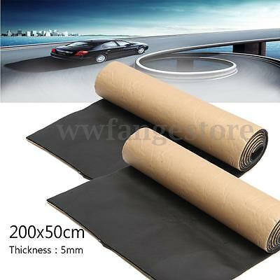 2Pcs 2m 5mm Self Adhesive Closed Cell Foam Car Soundproof  Deadener Insulation