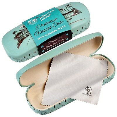 dotcomgiftshop DEPARTURE LOUNGE DESIGN HARDSHELL GLASSES CASE & CLEANING CLOTH