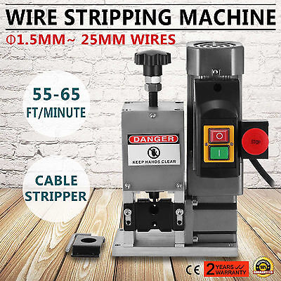 220V Powered Electric Wire Stripping Machine Peeling Cable Stripper 1.5-25mm