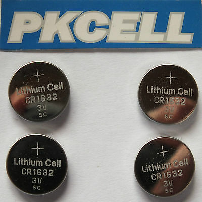 4 x CR-1632 COIN LITHIUM BATTERIES. INDIVIDUALLY PACKED. SAME DAY POST FROM UK.