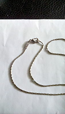 """925 silver twisted  17"""" box chain necklace - 4g"""
