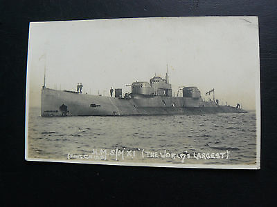 HMSM Submarine X1 The Worlds Largest Real Photo RP Postcard - Royal Navy