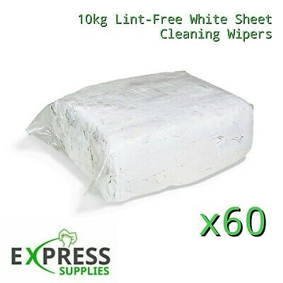 60 X 10Kg Bag Of 100% Cotton Sheet Lint Free Cleaning Rags / Wiping Cloths