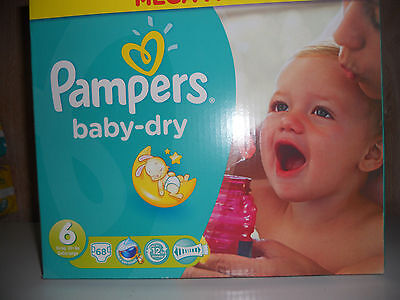 68 Couches PAMPERS Baby Dry taille 6