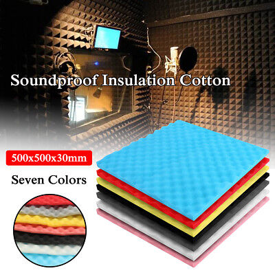 Acoustic Studio Music Foam Soundproofing Absorption Treatment Egg Shape 50x50cm