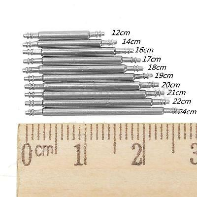 8x Stainless Steel Watch Strap Spring Bar Pins Removal Tool 12mm - 24mm All Size